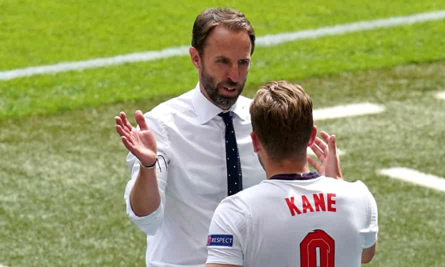 The England manager, Gareth Southgate, defended his captain after the victory over Croatia.