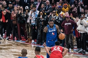 All eyes are on LeBron James during the NBA All-Star game.