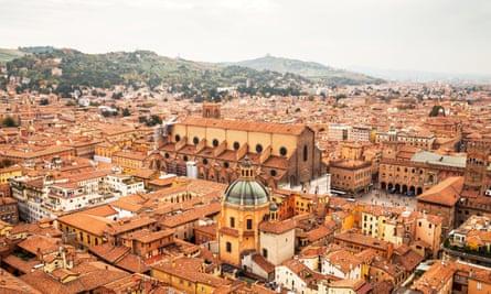 Bologna cityscapeAerial view of Bologna city, in Emilia-Romagna, Italy.
