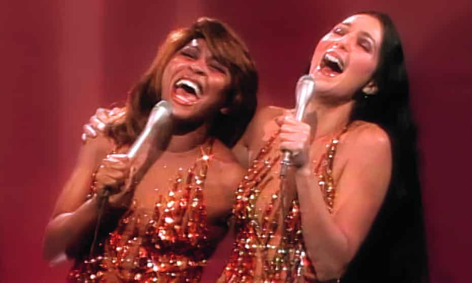 'My rock career was a dream come true' … Turner with Cher on her 1977 TV show.