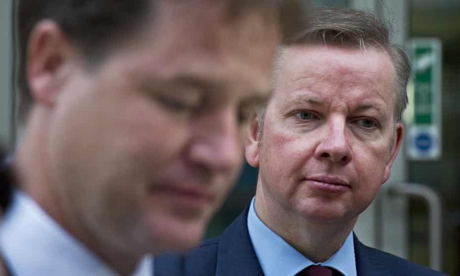 'Even before the personal relations soured, policy disagreements had started to accumulate' ... Clegg and Gove.