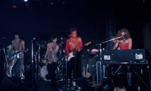 Prince's backing band the Revolution performing in New York in 1980.