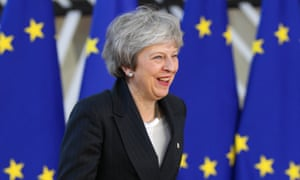 Theresa May at an EU leaders' summit in Brussels, December 2018