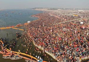 The festival attracts astonishing numbers of visitors.