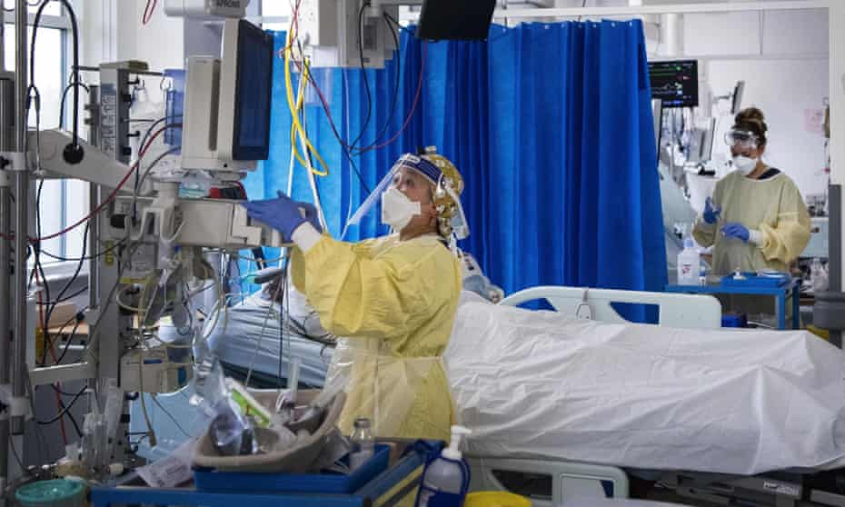 Intensive care unit in a Tooting hospital