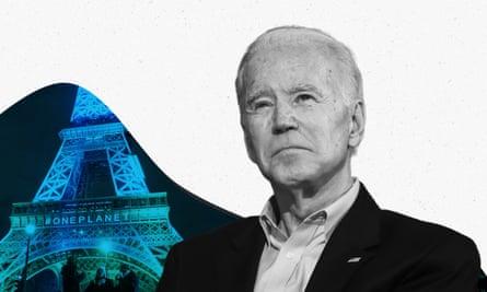 Biden and Eiffel Tower