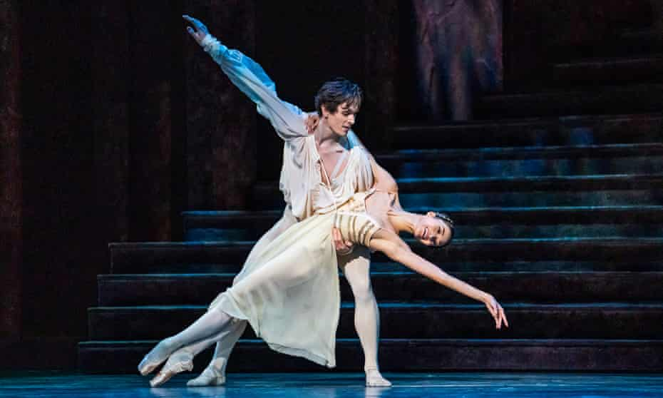 Love at first sight … Fumi Kaneko as Juliet and William Bracewell as Romeo at the Royal Opera House.