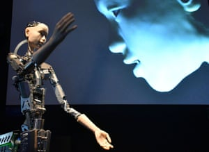 Artificial intelligence … the Alter 3 interactive robot.