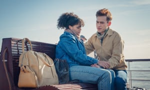 Lydia West as Jill and Olly Alexander as Ritchie in It's a Sin