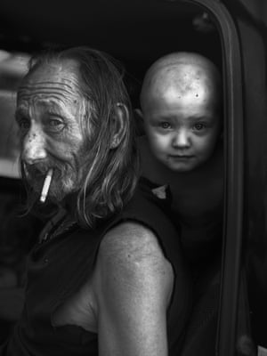 William and Leuxian, 2015'This picture is part of my book If This Is True… For this series, I rode 8,000 miles on a motorbike through the US and photographed the people I met. These two live in Evanston, Wyoming'