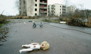 An abandoned town in Belarus in the zone that was evacuated after the Chernobyl disaster.