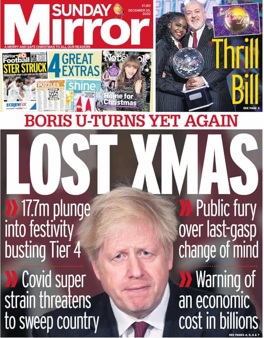 Mirror, Sunday 20 December 2020