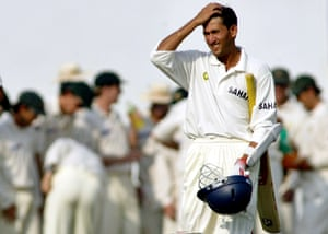 Ajit Agarkar in action for India.