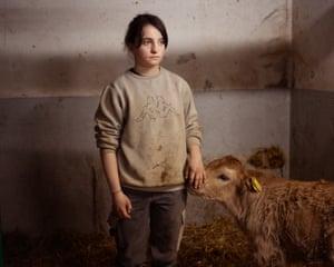 Doris, 20, with cow