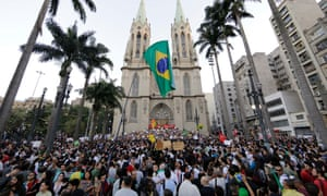 The protagonist is caught up in political unrest … demonstrators in São Paulo in 2013.
