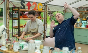 Daisy Ridley and Matt Lucas on The Great Celebrity Bake Off.