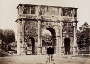 Gioacchino Altobelli, View of the Arch of Constantine from the Colosseum, ca. 1865