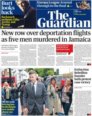 Guardian front page 10 May 2019