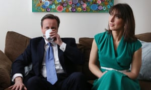 They just can't keep away: David and Samantha Cameron