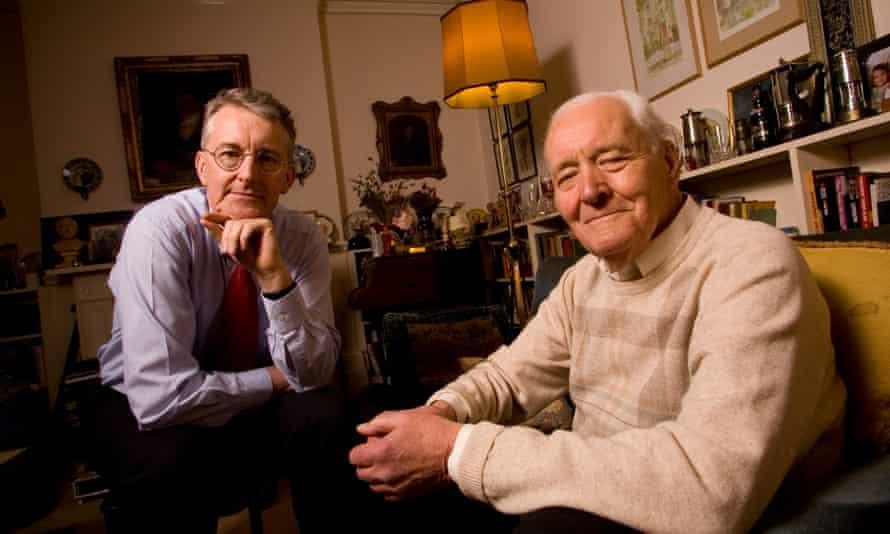 Hilary Benn and Tony Benn