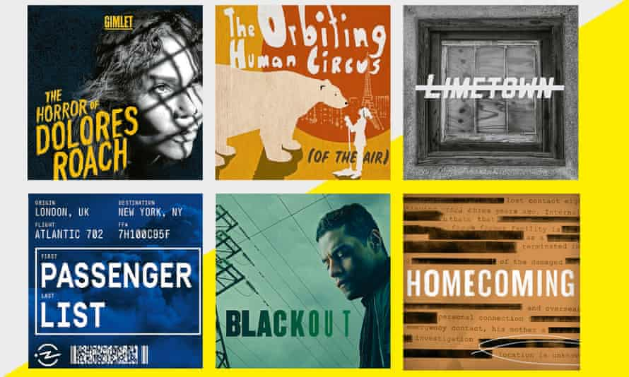 The Horror of Dolores Roach; The Orbiting Human Circus (of the Air); Limetown; Homecoming; Blackout; Passenger List