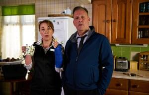 Dorothy Atkinson (Pauline) and Ross Boatman (Derek).