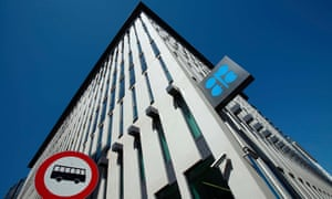 The Opec logo outside the oil cartel's headquarters in Vienna