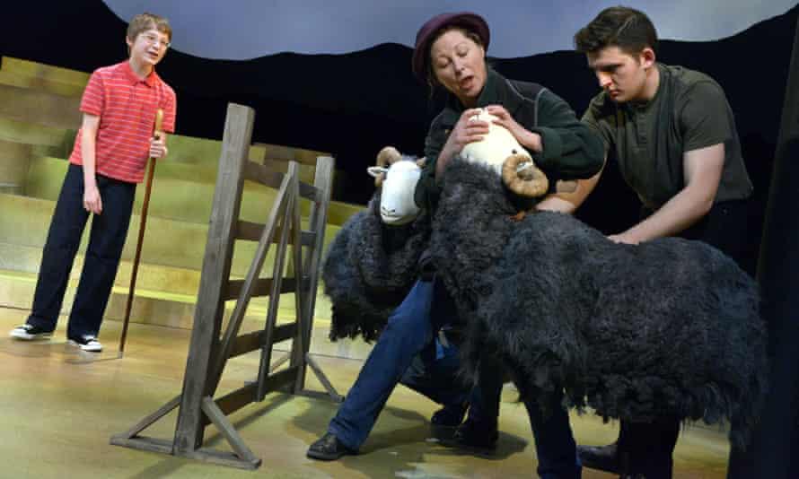 Dominic Houareau, Janine Birkett and Joseph Richardson in The Shepherds Life.
