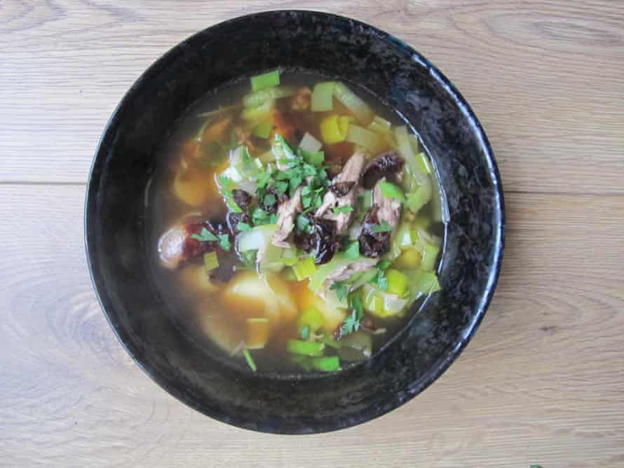 Catherine Brown's cock-a-leekie soup