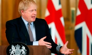 Boris Johnson at the first Downing Street coronavirus press briefing on 3 March