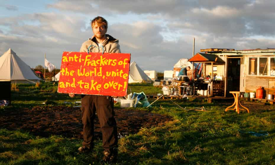 Kirby Misperton fracking protester Eddie Thornton.