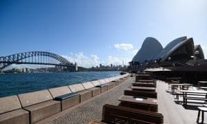 opera bar and opera house with harbour bridge in the background