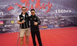 Alfie with winner Bai Bin