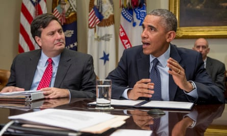 Ron Klain and Barack Obama at the White House on 18 November 2014.