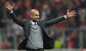 Bayern Munich's Pep Guardiola says: 'When my players decided to become footballers, they wanted to play with the ball.'