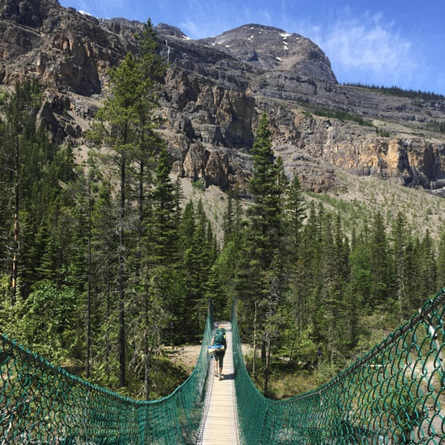 Bridge in the Valley of a Thousand Falls, British Columbia.