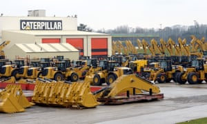 Caterpillar said US tariffs on steel imports would cost it $40m in the latest quarter.