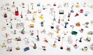 Eighty-Seven Small Polychromed Tin Sculptures (1995)