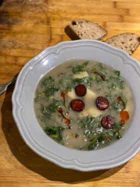 This soup is the culinary equivalent of the national flag, according to Tessa Kiros.