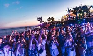 a sundowner DJ set at the Kala festival