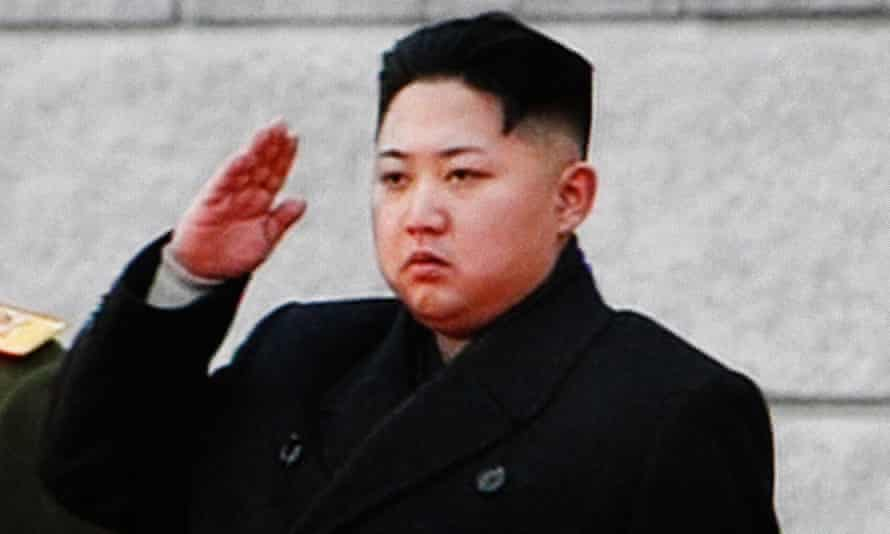 Kim Jong-un salutes at his father's funeral in 2011.