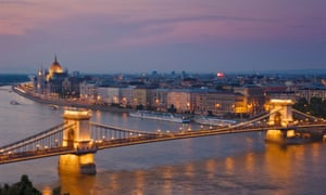 The Hungarian parliament building and the Chain bridge.