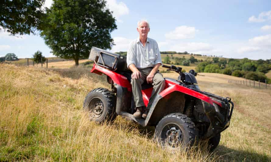 Jamie Smith on his farm near Evesham, Worcestershire