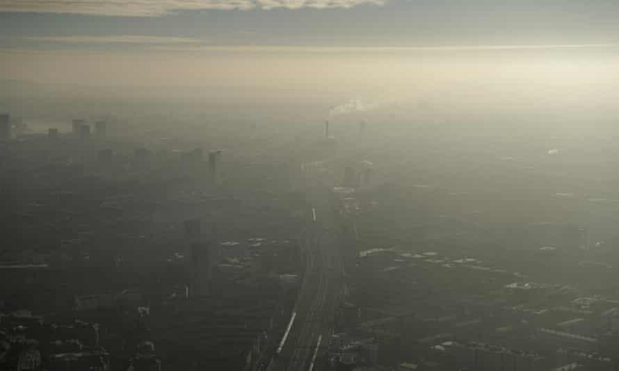 Pollution haze over south-east London