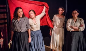 Ferocious and yet dreamy intensity … left to right, Lisa Moorish, Robyn Hoedemaker, Ottilie Mackintosh and Jane MacFarlane in The Divine Chaos Of Starry Things.