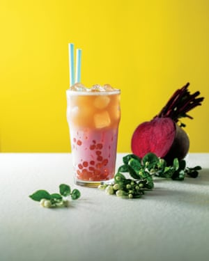 Flamingo Boom Boba Pearls Honey Orchid Black Latte