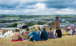 The view from Glastonbury … whatever their political view, festivalgoers are encouraged to vote on 23 June.