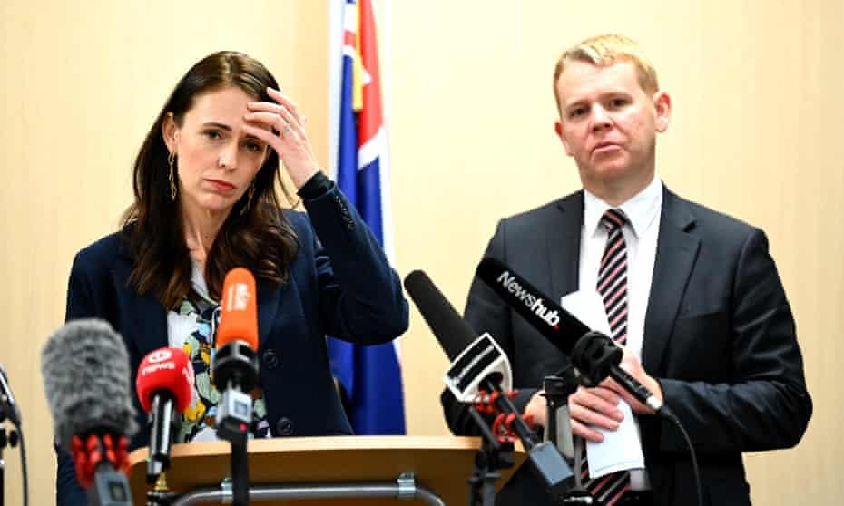 New Zealand prime minister Jacinda Ardern has seen support for her government slip slightly
