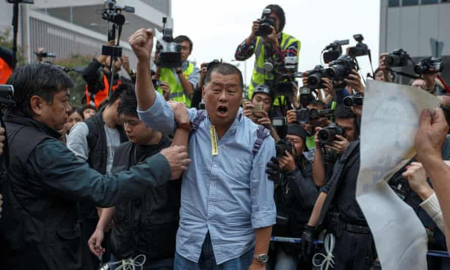 The Hong Kong media owner Jimmy Lai