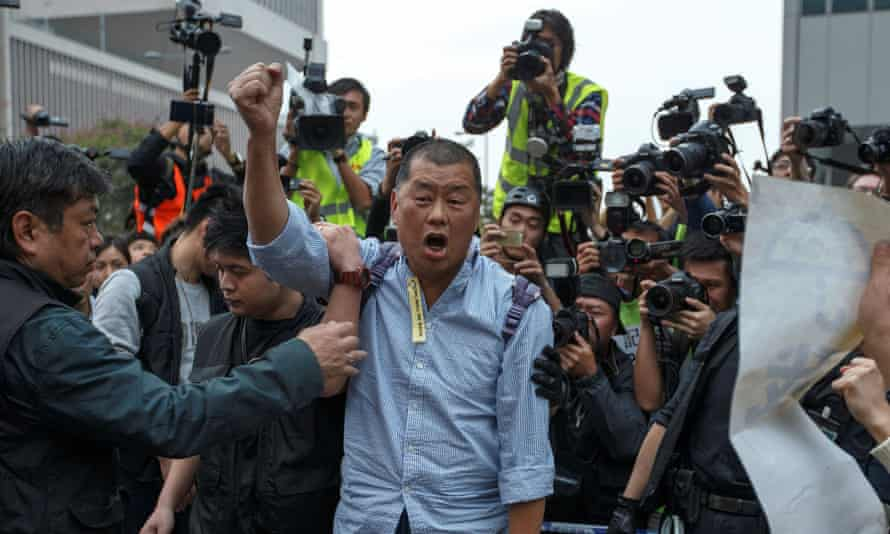 Apple Daily's Jimmy Lai, a financial patron of Hong Kong's pro-democracy movement, has been arrested